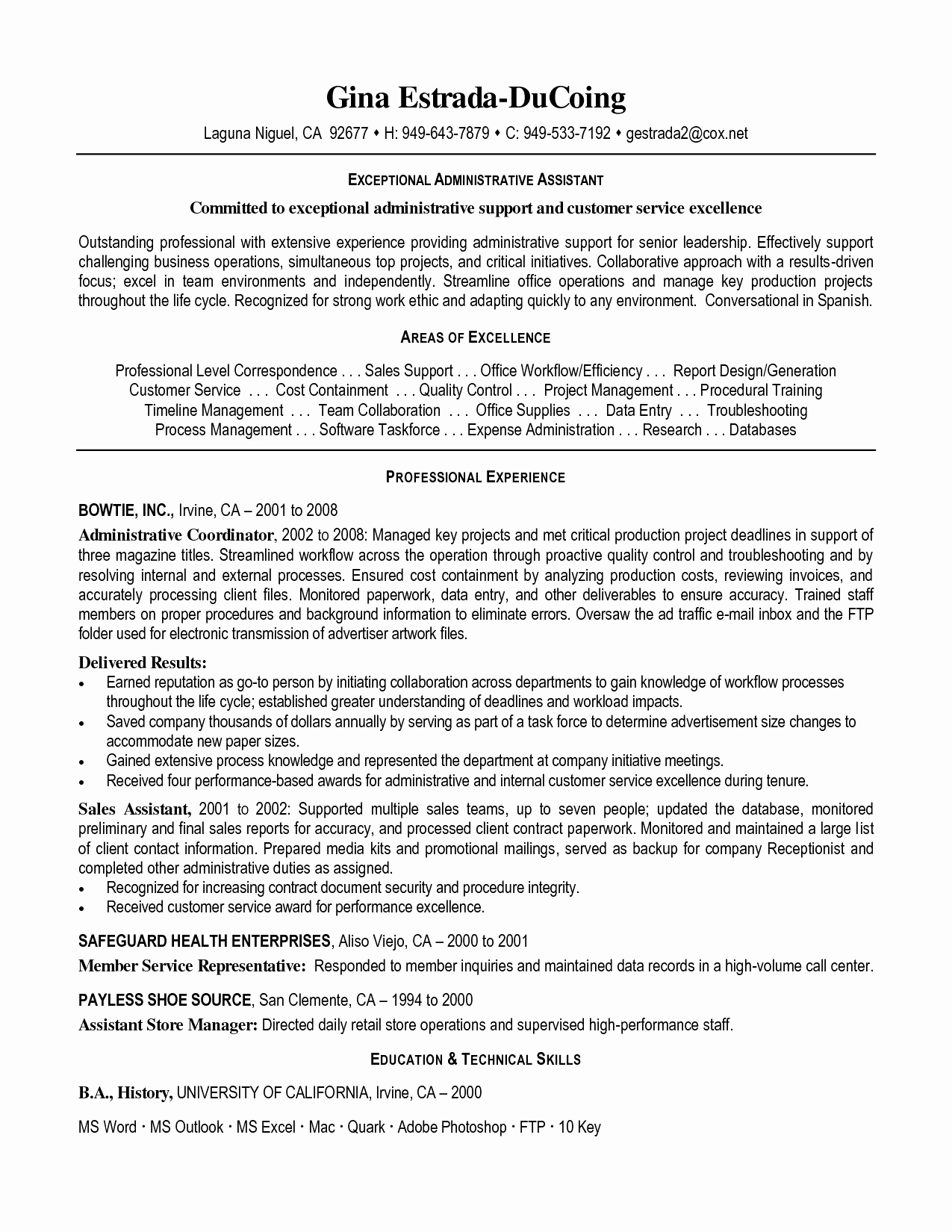 9 executive assistant resume template word collection