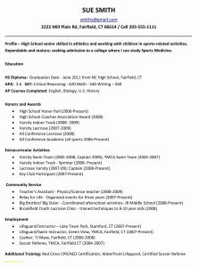 Fairfield University Resume Template - Resume Template for College Application Inspirational Resume Referee