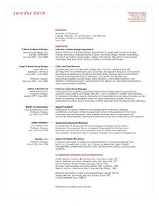 Fashion Design Resume Template - Junior Fashion Er Resume Skills Google Search