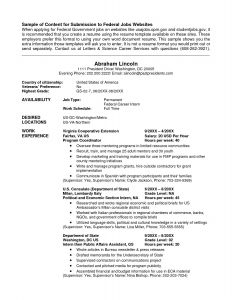 Fbi Resume Template - Federal Resume Template New Federal Government Resume Builder New