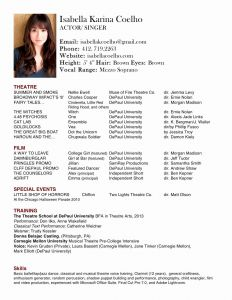 Film Actor Resume Template - Resume Template Best Ressume Template Lovely Type Resume