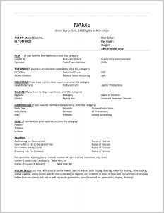 Film Actor Resume Template - theatre Actor Resume Example Acting Resume Sample Free Fax Cover