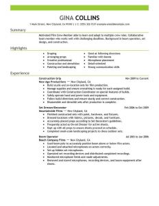 Film Crew Resume Template - Resume Template Free assignment Samples Essay format for