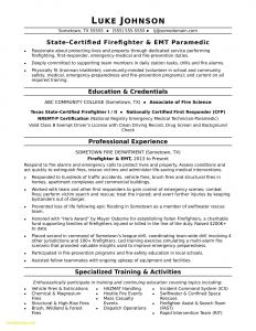 Firefighter Resume Template - the 24 Elegant Pics Sample Firefighter Resume