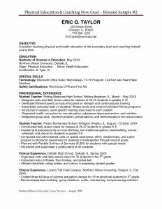 Football Coach Resume Template - Hockey Resume Template Save soccer Coach Resume Sample New Coaching