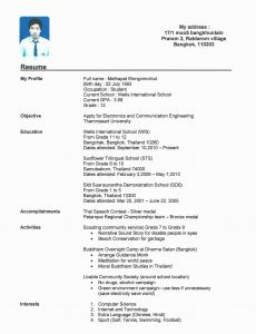 Football Resume Template - Sample Resume Teenager No Experience Inspirational Luxury Resume
