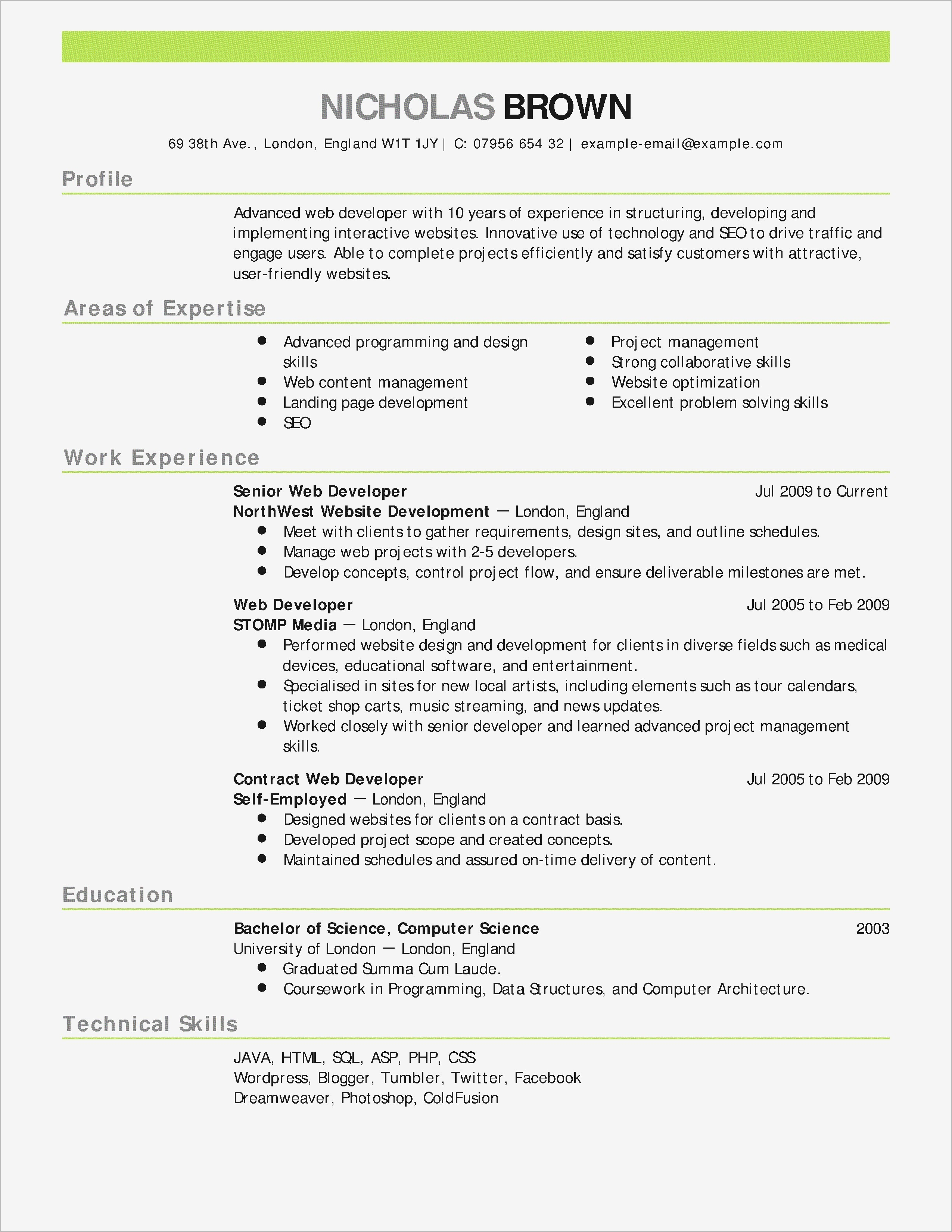 fox school of business resume template example-Fox School Business Resume Template 4-k