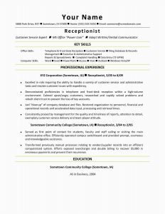 Front Desk Resume Template - 28 New Resume Word Templates Sample