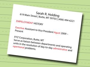 Georgetown Resume Template - 7 Ways to Make A Resume Wikihow