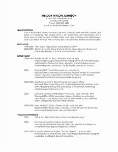 Grad School Resume Template - Graduate School Resume Template Lovely Grad School Resume Template
