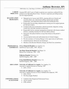 Graduate Nurse Resume Template Free - Rn Resume Template Beautiful Rn Resume Templates New New Nurse