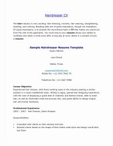 Hairdresser Resume Template - Cosmetologist Resume Template Fresh Cosmetologist Resume Template