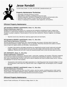 Handyman Resume Template - Sample Resume for Maintenance Technician Best 43 Fresh Cover