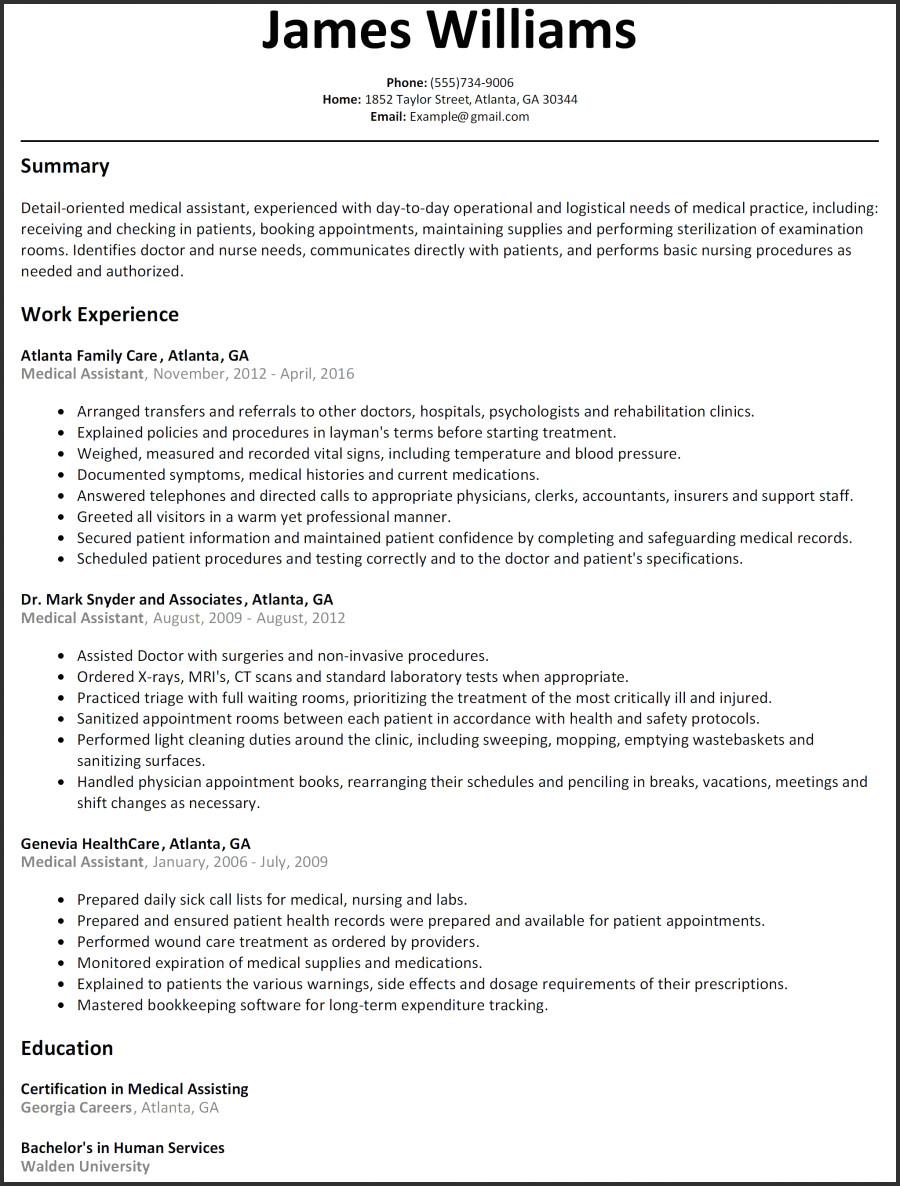healthcare professional resume template Collection-Resume Templates Resume Template Free Word New Od Specialist Sample Resume Resume For Medical Assistant 14-r