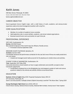 High School Graduate Resume Template Microsoft Word - High School Graduate Resume Example Work Experience