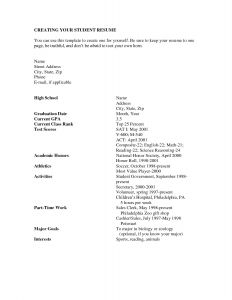 High School Graduate Resume Template Microsoft Word - How to Write A Job Resume for A Highschool Student Sample Pdf High