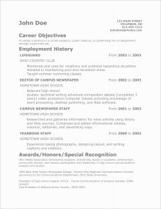 High School Resume Template Pdf - Resume Examples Qualities Archives Margorochelle