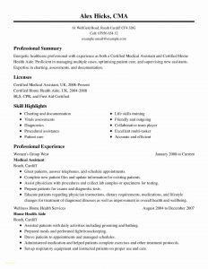 Home Health Aide Resume Template - Examples Medical assistant Resumes New Samples Resumes for