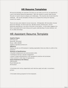 Hr Resume Template - Engineering Resumes Templates Save Fresh Pr Resume Template Elegant