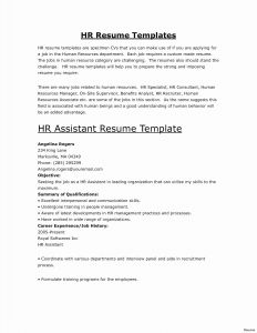 Human Resources Manager Resume Template - Sample Human Resources Manager Resume Unique Hr Manager Resume New