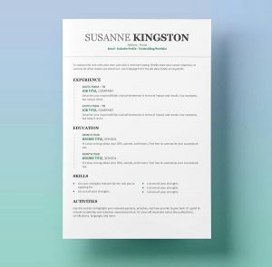 Is It Bad to Use A Resume Template - 54 Fresh Resume Templates for Word 2010