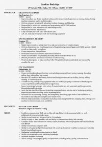 Machinist Resume Template - Cnc Operator Resume Sample