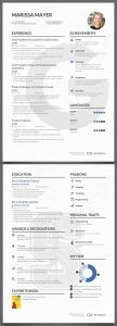 Marissa Mayer Resume Template Word - 16 Best Cv Graphique Images On Pinterest