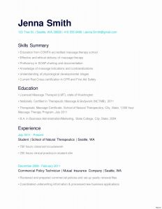 Massage Resume Template - Massage therapist Resume format Pharmacy Que