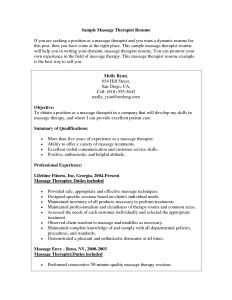 Massage therapist Resume Template - Massage therapist Resume Example Elegant Massage therapist Resume