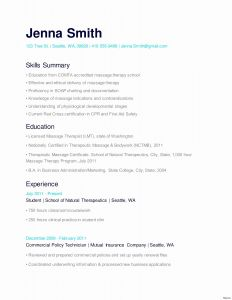 Massage therapy Resume Template - 17 Massage therapist Resume