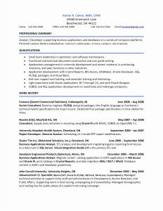 Mba Application Resume Template - 30 Mba Application Resume Sample