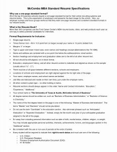 Mccombs School Of Business Resume Template - 20 Beautiful Graph Mc Bs Business School Resume Template