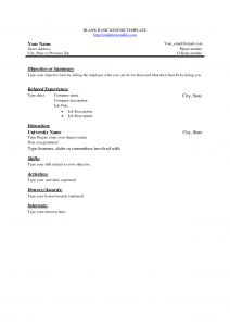 Mccombs School Of Business Resume Template - Free Basic Blank Resume Template Free Basic Sample Resume