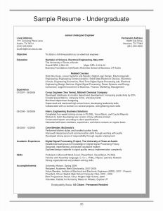 Mccombs School Of Business Resume Template - Undergraduate Resume format Paragraphrewriter
