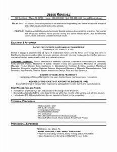 Mechanical Engineer Resume Template - Mechanical Resume Sample Awesome Sample Resume for Mechanical