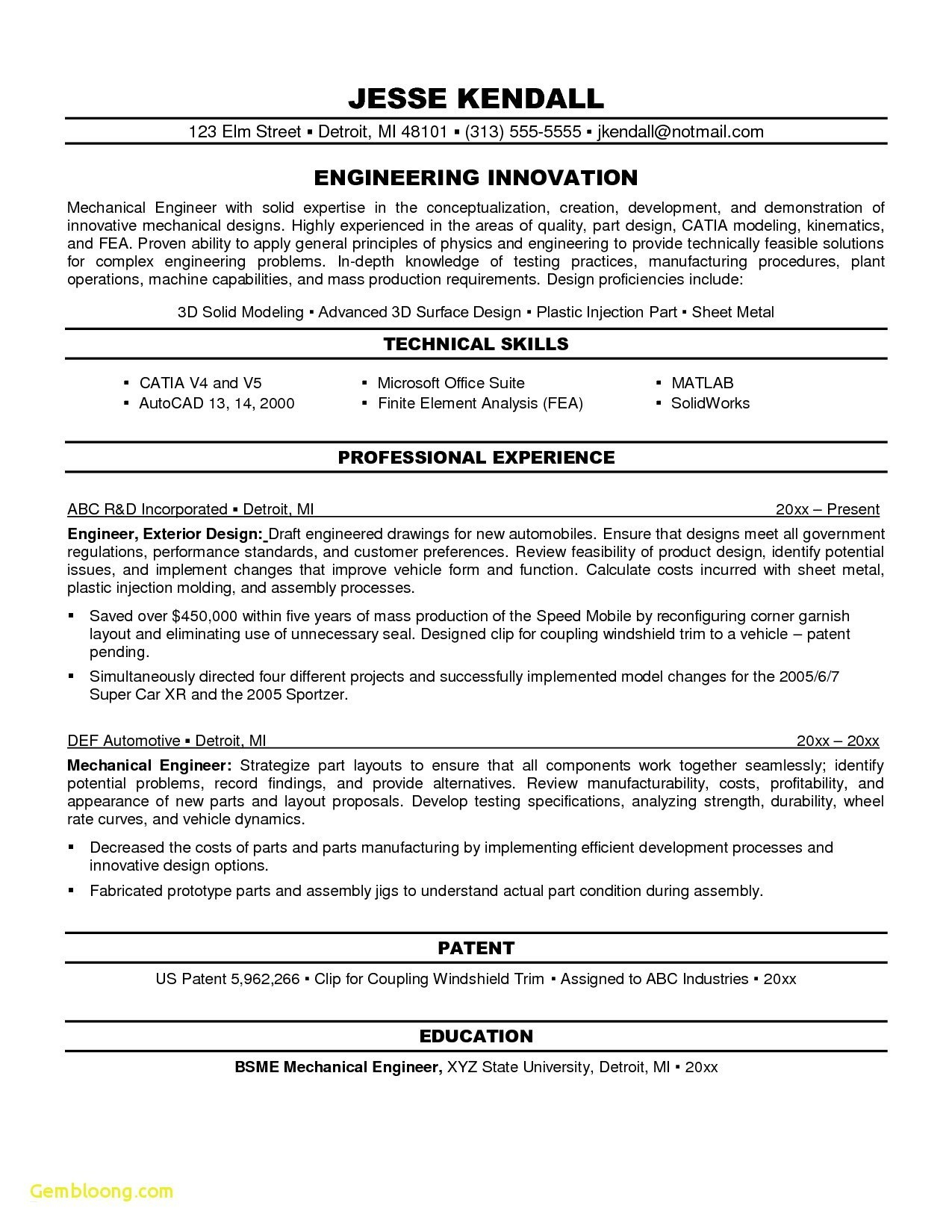11 mechanical engineering resume template examples
