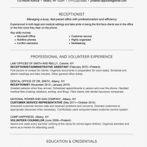 Med School Resume Template - Receptionist Skills Job Description and Resume Example