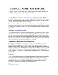 Medical assistant Resume Template Free - Medical assistant Resume Templates Free Awesome Medical Resume