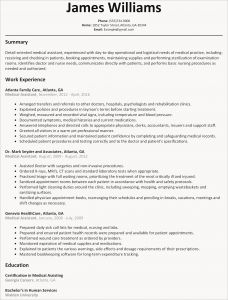Medical assistant Resume Template Microsoft Word - 30 Medical assistant Resume Template
