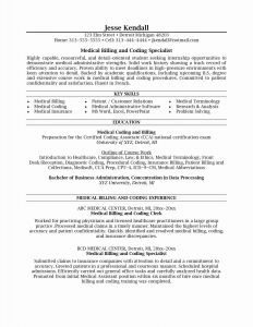 Medical Coding Resume Template - Medical Coding Resume Samples Valid Rhit Resume Samples Creative