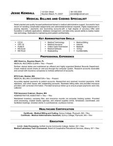 Medical Coding Resume Template - Medical Records Clerk Resume Best Medical Coder Free Resume