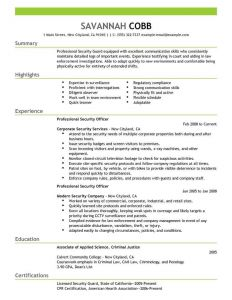 Military Resume Template Microsoft Word - Best Professional Security Ficer Resume Example