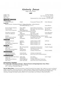 Musical theater Resume Template - Musicians Resume Template Best Musical theatre Resume Beautiful Best