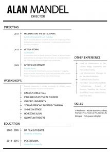 Musical theater Resume Template - 20 Musical theatre Resume Template