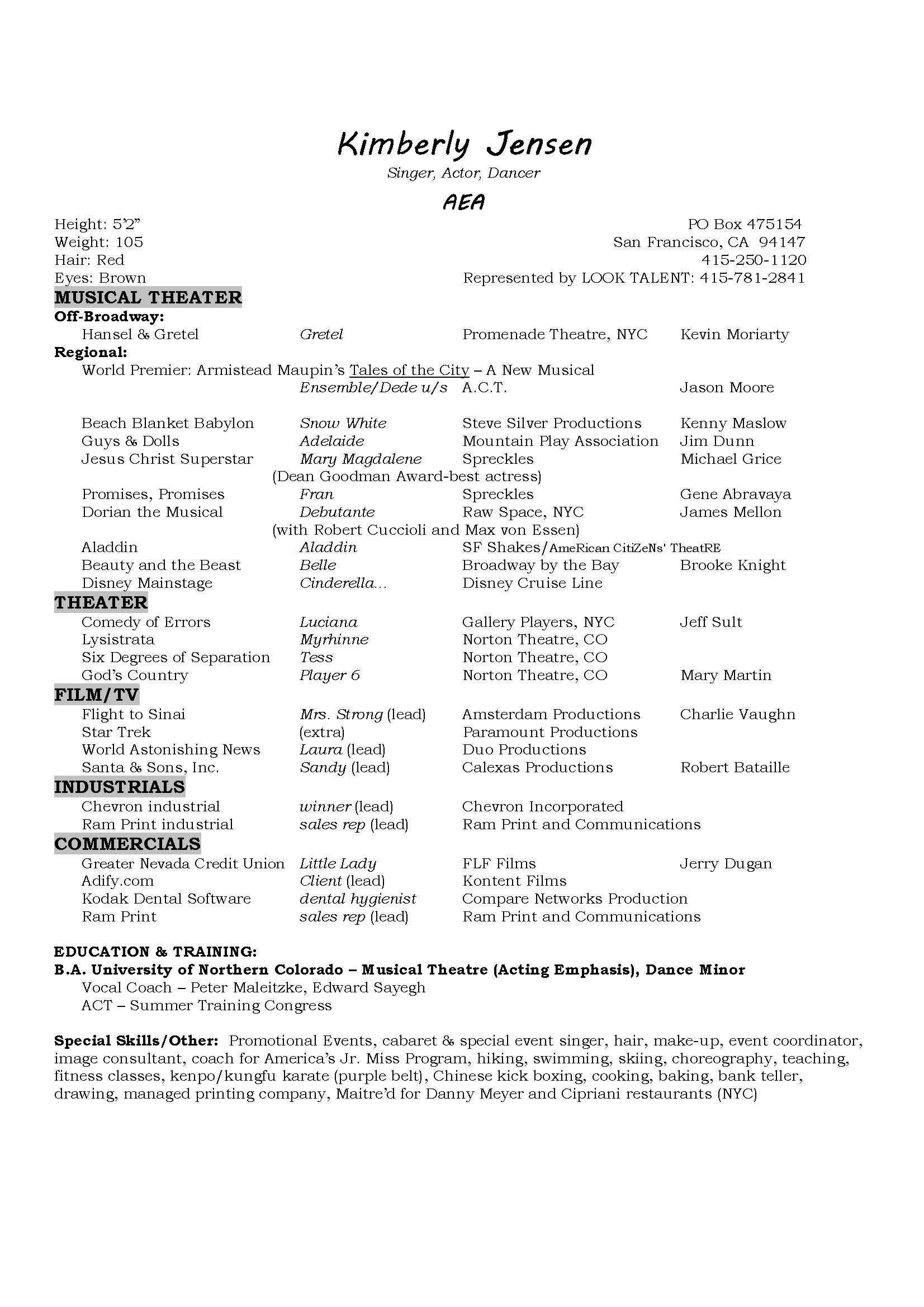 musical theater resume template Collection-Musicians Resume Template Best Musical Theatre Resume Beautiful Best Actor Resume Unique Actor 6-a