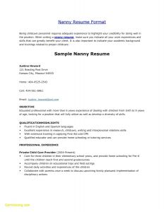 Nanny Resume Template - 18 Nanny Job Description Resume