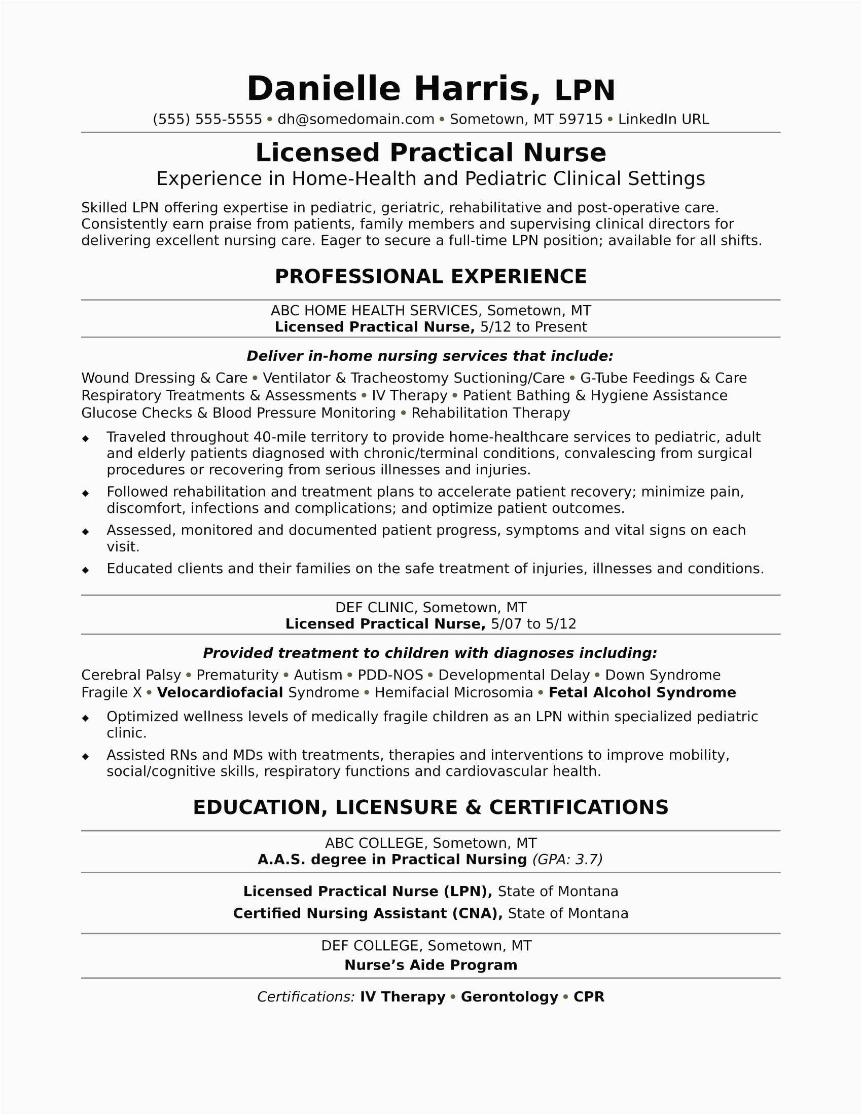 11 nurse resume template free download examples