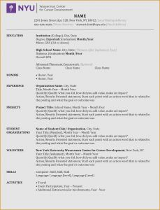 Nyu Resume Template - Nyu Resume Template Security Resume Examples Help Desk Resume