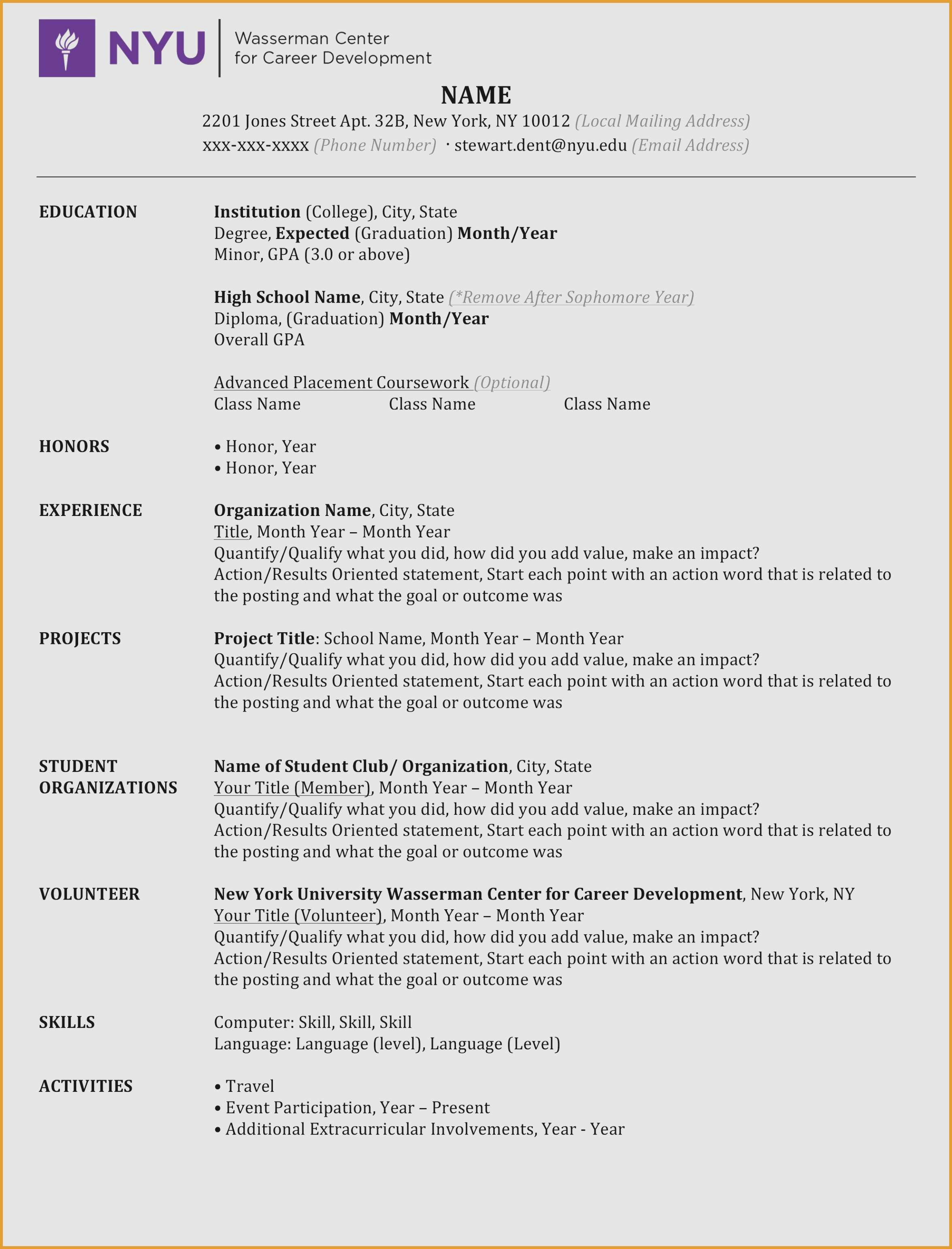 nyu resume template example-Nyu Resume Template Security Resume Examples Help Desk Resume Examples Elegant 9-g