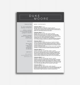 Outdoor Resume Template - 17 Professional Resume Template Free
